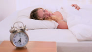 Stock Video Footage of Pretty blonde model refusing to wake up