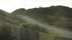 US-Mexican Border, Tecate Mexico Stock Footage