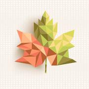 Fall season triangle leaf composition concept background. eps10 file. Stock Illustration
