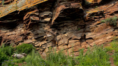 Ancient rock paintings of Khakassia Stock Footage