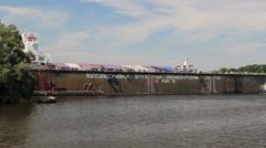 Shipyard and docks - Szczecin, Poland Stock Footage