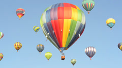 Hot Air Balloons in the Air - stock footage