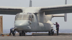 Osprey On Carrier - Loading Cargo 01 Stock Footage