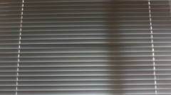Blind or louvers with wind Stock Footage