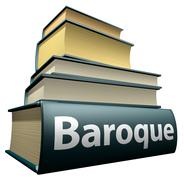 Education books - baroque Stock Illustration