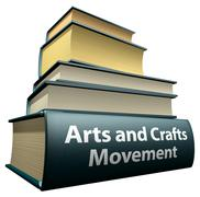 Education books - Arts and Crafts Movement Stock Illustration
