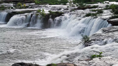 Sandstone Falls on the New River Loop Stock Footage