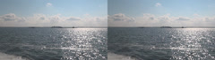 Ships on the Volga -Stereoscopic 3D . - stock footage