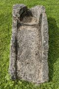 stone coffin - stock photo