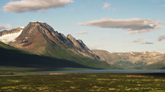 Yukon Mountain Glacier and Tundra Lake TL Stock Footage