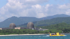 Nuclear power plant in kenting national park , taiwan Stock Footage