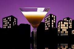 Metropolis coffee martini cocktail Stock Illustration