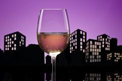 Metropolis white wine Stock Illustration