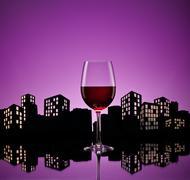 Metropolis red wine Stock Illustration