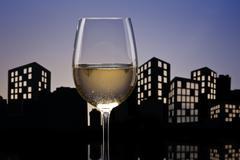 Stock Illustration of metropolis white wine