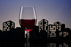 Stock Illustration of metropolis red wine