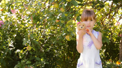 Girl playing toy dog (toy) laughs Stock Footage