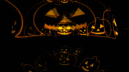 Stock Video Footage of Helloween Cartoon Pumpkins Outlines