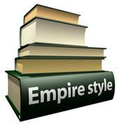 Education books - Empire style - stock illustration