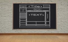 Blackboard with web page Stock Photos