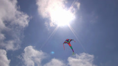 Kite flying in the sky Stock Footage