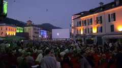 Locarno Film Festival in Switzerland Stock Footage