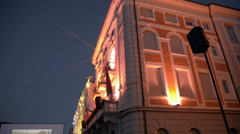 Locarno Film Festival in Switzerland Stock Footage