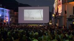 Locarno Film Festival in Switzerland - stock footage