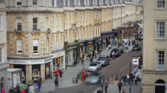 Bath Street Time Lapse - stock footage
