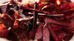 Varieties of dried meat Stock Footage