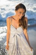 Stock Photo of Beautiful woman on the beach