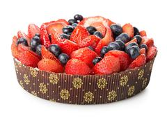 Berry cake Stock Photos