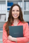 smiling young job applicant - stock photo