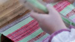 Work of the weaver. - stock footage