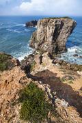 coastal algarve region near sagres, portugal - stock photo