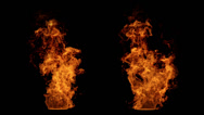 Stock Video Footage of Detailed fire isolated on black (seamless loop, full Hd ,slow motion)