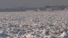 Saint-Laurent River with ice 2 Stock Footage
