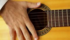 flamenco strings muted - stock footage