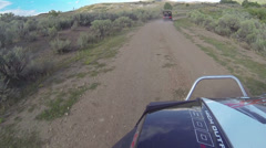 RZR 4x4 800 trail ride in mountains with friends HD 0039 Stock Footage