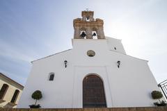 Spanish sanlucar church town Stock Photos