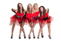 dance group - stock photo