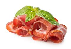 Bacon with herbs - stock photo