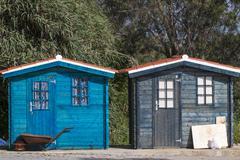 fisherman cabins - stock photo