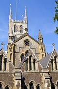 Southwark Cathedral in London - stock photo