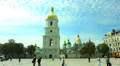 Christian orthodox church and people.Time lapse Footage