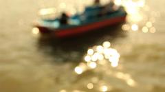 Taking boat on the lake,Beihai park,defocus Stock Footage