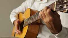 Guitarist playing Stock Footage
