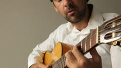 Man playing and singing Stock Footage