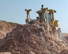 Cat Buldozer at work PAL Stock Footage