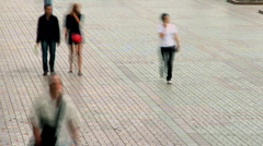Time lapse of people on street, holiday walking crowd pavement Stock Footage
